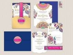 The Sophia Flat Card Invitation por AprilTwentyFive en Etsy