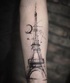 """""""Eiffel Tower Done by @tattooer_nadi . #Tattoo_artwork . #tattoo #tattoos #tatt #tat #tattooing #tattooink #tattooart #tattooartist #art #artist #ink…"""""""