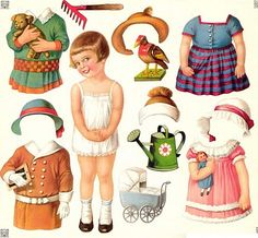 vintage paper dolls!.. free to download