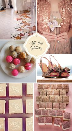 Pink & Gold Glitter New Years Eve Wedding Inspiration