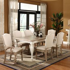 Riverside Coventry 7 piece Rectangle Dining Set | from hayneedle.com