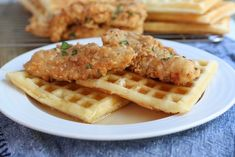 Chicken and Waffles - Easy, Southern Recipe Spicy Fried Chicken, Fried Chicken And Waffles, Homemade Maple Syrup, Homemade Buttermilk, Waffle Recipes, Brunch Recipes, Breakfast Recipes, Buttermilk Waffles, Chicken Seasoning