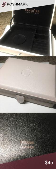 Pandora Light Pink Jewelry Box Genuine Light Pink Leather jewelry case with latch closure. Like new, hardly used. Price is firm. No trades. Pandora Jewelry Bracelets
