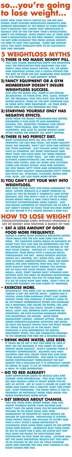 Lose weight the correct way