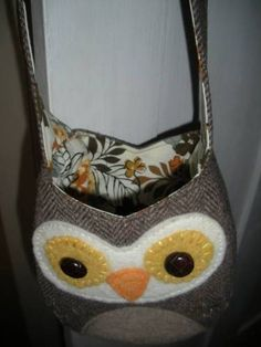 Owl be Green! - Upcycled owl purse - PURSES, BAGS, WALLETS