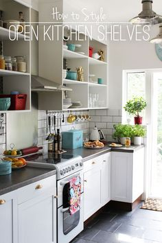Open Kitchen Shelves!!! Yes! Makes You Wanna Keep Them Clean And Organized