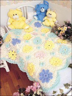 Spring bouquet afghan - free crochet pattern