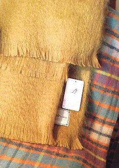 Bronte Brand New Ochre / Mustard Mohair Blanket | Coast & Country Interiors