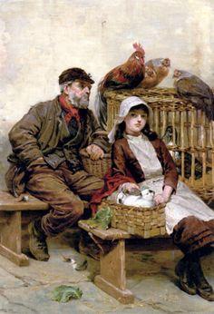 The Animal Market -- Ralph Hedley (1848 – 1913, English)