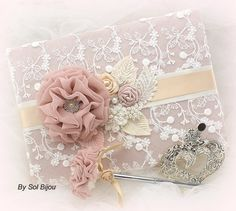 Guest Book Signature Book Signing Pen Wedding Tan by SolBijou