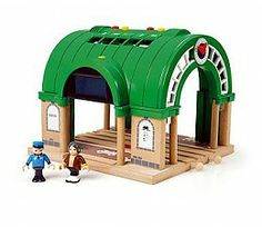 Huge range of wooden toys at great prices. Start your train journey here at the BRIO central station! When the trains pull up to the station, take a look at