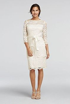 3/4 Sleeve Tiered Floral Lace Mother of Bride/Groom Dress with Sash Style... David's Bridal http://www.amazon.com/dp/B01D98HG7Y/ref=cm_sw_r_pi_dp_Mtx9wb02JA1S7