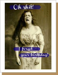 Oh Shit Belated Birthday Card Funny Card - Happy Birthday Funny - Funny Birthday meme - - Oh Shit Belated Birthday Card Funny Card by UmlautBrooklynShop The post Oh Shit Belated Birthday Card Funny Card appeared first on Gag Dad. Birthday Celebration Quotes, Birthday Wishes For Mom, Happy Birthday Quotes, Happy Birthday Images, Happy Birthday Greetings, It's Your Birthday, Belated Birthday Funny, Late Birthday, Funny Birthday Cards