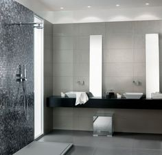 modernes badezimmer beispiel fliesen verlegen farben