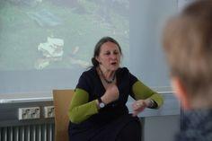 Claire Hewitt storytelling workshop April 2014 at Novia University of Applied Sciences