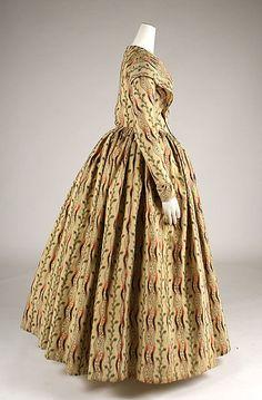 Morning dress (image 2) | British | 1840-1845 | wool | Metropolitan Museum of Art | Accession #:  1977.91.2