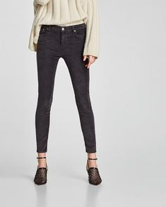 Image 2 of SKINNY CORDUROY TROUSERS from Zara