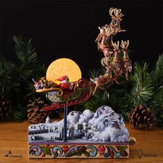 4027708 Santa's Sleigh Masterpiece-Jim Shore