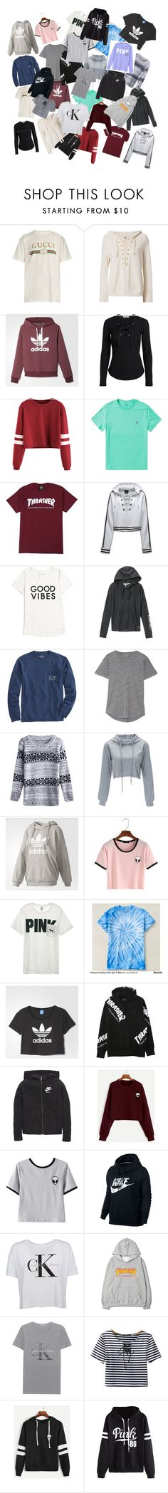 """""""Shirt favs"""" by kaylee-williams-2 ❤ liked on Polyvore featuring Gucci, NSF, adidas, Puma, Tommy Hilfiger, Victoria's Secret, Vineyard Vines, Madewell, HUF and NIKE"""