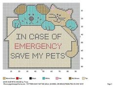 Save My Pets wall hanging