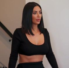 Sad times: Kim Kardashian has developed body dysmorphia from being shamed over bikini phot...
