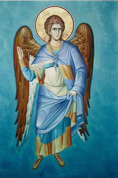 Angel of God, pray for us. Byzantine Icons, Byzantine Art, Religious Icons, Religious Art, Greek Icons, Religion, Angels Among Us, Archangel Michael, Art Icon