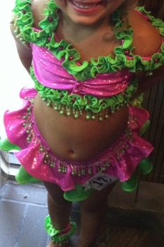Custom Made Pageant Swimwear Size 7 8 | eBay