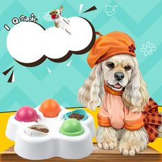 Replace your standard bowl with our slow feeder dog bowl to make mealtime fun! This combination of slow feeder and treat puzzle will help slow down your dog's eating pace while exercising your dog's mind. 🐶 STIMULATE BRAIN ACTIVITY: dog games for dog brain games. Interactive toys for dogs and puzzle for dogs, dog chew toys. Puppy game toys are not only for fun but also to strengthen your dog's cognitive abilities. Dog Treat Toys, Dog Chew Toys, Brain Games For Dogs, Dog Games, Dog Puzzles, Puzzle Toys, Dog Toys For Boredom, Dog Treat Dispenser, Dog Feeding Bowls
