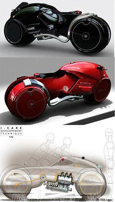 Icare Konsept Motosiklet Tasarımı #design #bike #concept Vehicles, Car, Automobile, Vehicle, Cars