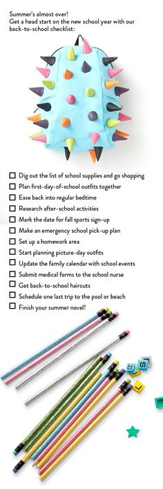 A mom's guide for getting ready for Back to School.