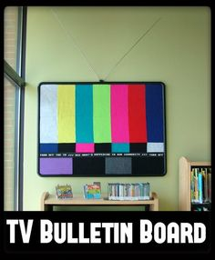 Bulletin Board Makeover | Taking a grey/boring bulletin board at the library and making it spectacular