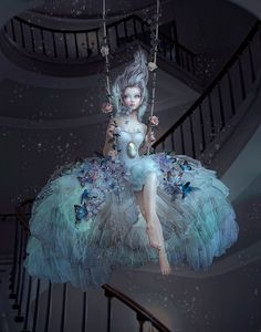 By Natalie Shau (http://natalieshau.carbonmade.com/) #surreal #art #colour_blue