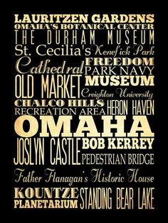 Great typography, representing Omaha!
