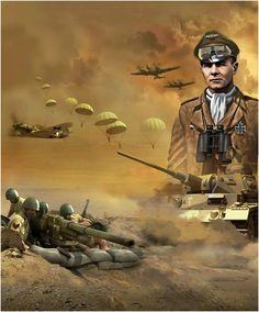 German Soldiers Ww2, German Army, Erwin Rommel, Military Drawings, Afrika Korps, War Thunder, George Custer, War Photography, Historical Art