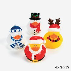 Holiday Rubber Duckies #OrientalTrading.com #ChristmasWishList