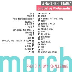photo a day march