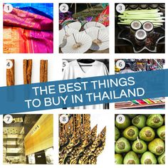 The 9 best things to buy in Thailand (+ shopping tips for Bangkok, Chiang Mai and Koh Samui) // #Thailand #Shopping // http://www.kohsamuisunset.com/best-things-to-buy-thailand/