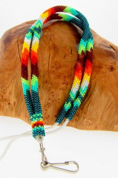 Stunning Multi-Colored Beaded Lanyard by Mary Tsosie (Navajo)