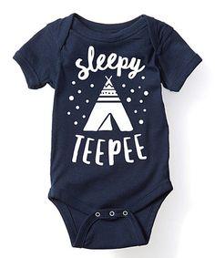 Another great find on #zulily! Navy 'Sleepy Teepee' Bodysuit - Infant #zulilyfinds