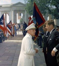 """""""As we express our gratitude, we must never forget that the highest appreciation is not to utter words, but to live by them."""" - JFK  President John F. Kennedy Attends Memorial Day Ceremonies at Arlington National Cemetery - May 30th 1963.  Photo: Robert Knudsen  #manoftheworld #memorialday #jfk #country #memories #kennedy #arlington #1963 #celebration #marines #army #soldiers #neverforget #honor #gratitude #airfoce #navyseals #parade #troups #military #president #lifeinpictures #mrpresident"""