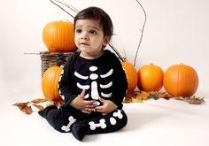 Baby skeleton photoshoot