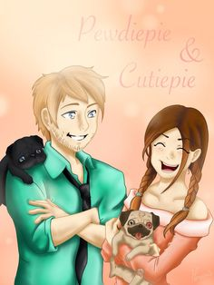 Pewdiepie and Cutiepie :D