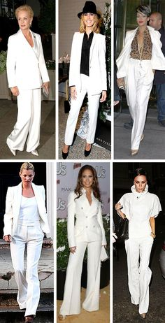 29 Best White Pant Suit Images White People Fashion Women White