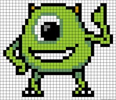 Mike Monsters Inc. perler bead pattern