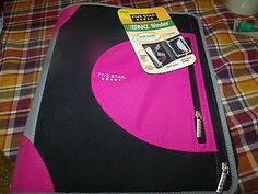 Mead Five Star Xpanz Zipper Binder 3 Ring Pink and Black