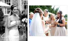 Laura catches up with the girls on her wedding day.