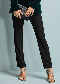 Tuxedo Trousers by Kaleidoscope Christmas Fashion, Winter Fashion, Aw18 Fashion, Fashion Ideas, Mother Of The Bride Trouser Suits, Tuxedo Jacket, Tailored Trousers, Occasion Wear, New Outfits