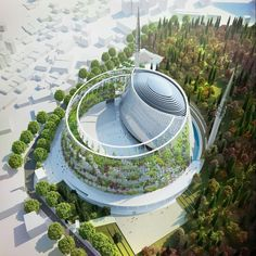 Camlica Mosque in Istanbul, design by Tuncer Cakmakli Architects Architecture Sacred Architecture, Mosque Architecture, Architecture Board, Green Architecture, Futuristic Architecture, Sustainable Architecture, Landscape Architecture, Architecture Design, Architecture Student