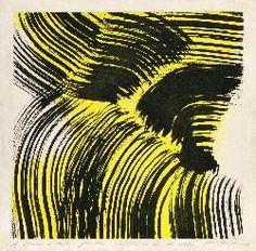 HANS HARTUNG - Composition centrale ; 1962