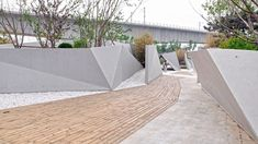 Jardín Sunken de Plasma Studio en Beijing, China